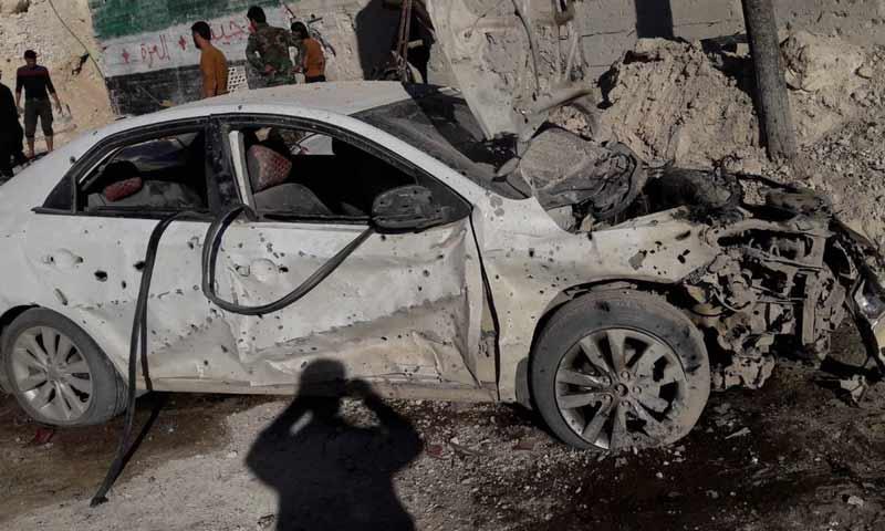 قصف مدفعي طال سيارة قائد حركة أحرار الشام بريف حماة الشمالي 29 تشرين الأول 2018 (الرائد جميل صالح )