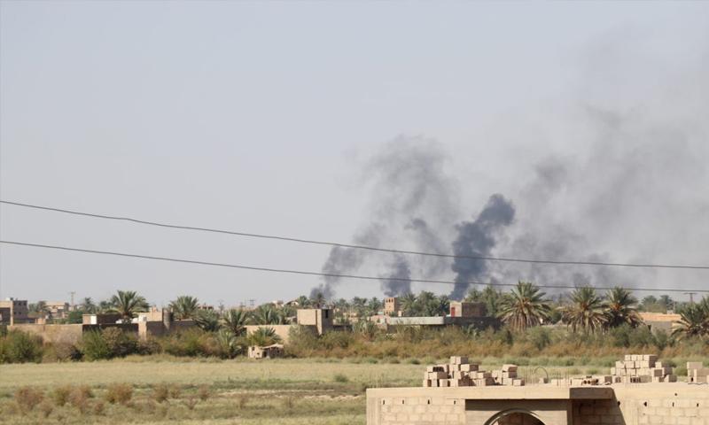 قصف يستهدف بلدة السوسة شرق الفرات - 20 من تشرين الأول 2018 (قسد)
