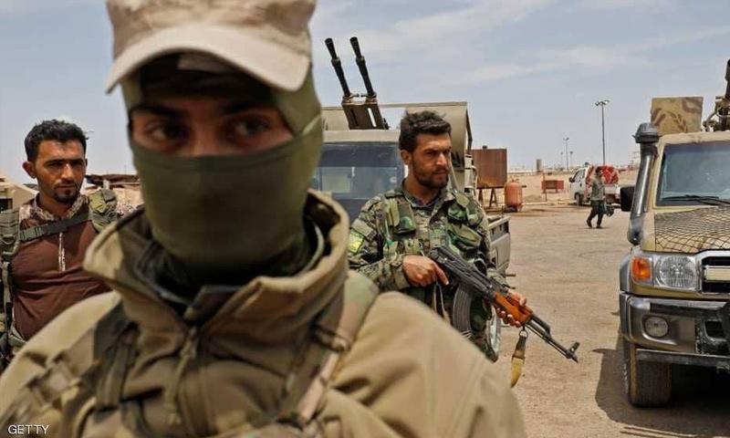 عناصر من قسد في أثناء العمليات العسكرية شرق الفرات - (حملة عاصفة الجزيرة)