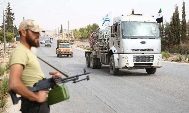 انسحاب فصائل المقاتلة في إدلب من المنطقة العازلة- 8 تشرين الأول 2018 (الأناضول)