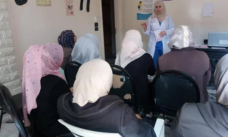 حملة توعية للكشف المبكر عن سرطان الثدي في درعا- 11 تشرين الأول (جمعية تنظيم الأسرة السورية)