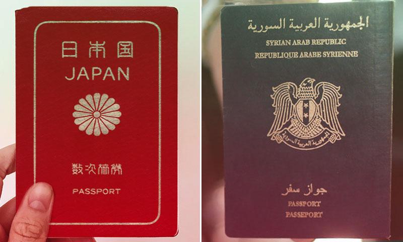 جواز السفر السوري والجواز الياباني (تعديل عنب بلدي)