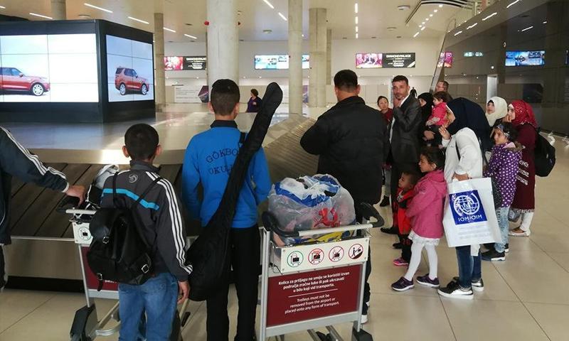 لاجئون سوريون وصلوا من تركيا إلى كرواتيا- 10 تشرين الأول 2018 (منظمة الهجرة الدولية)