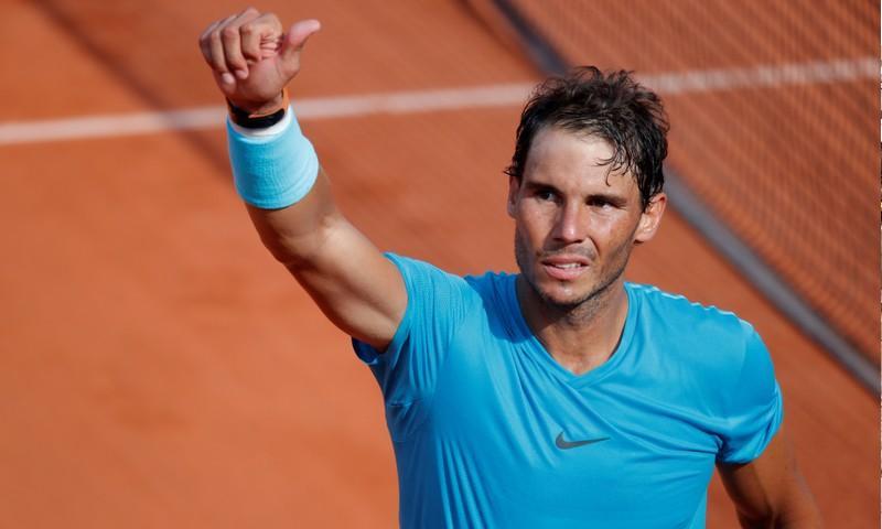 متصدر الترتيب العالمي برياضة التنس رفائيل نادال (رويترز)