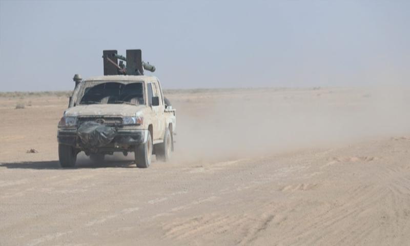 عربة عسكرية تابعة لقوات سوريا الديمقراطية شرق الفرات - (قسد)