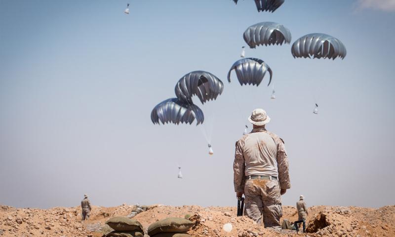 تدريبات حية لقوات أمريكية في محيط قاعدة التنف جنوب سوريا – 7 من أيلول 2018 (القيادة المركزية للتحالف الدولي)