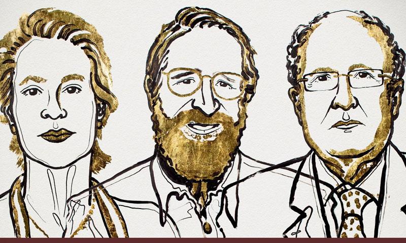 الفائزون الثلاثة بجائزة نوبل للكيمياء (تويتر)
