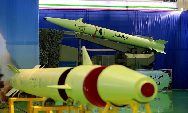 """صواريخ """"ذو الفقار"""" الإيرانية (وكالة تسنيم)"""