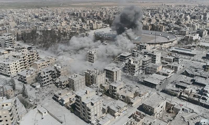 القصف على منازل المدنيين في الرقة ( العفو الدولية)