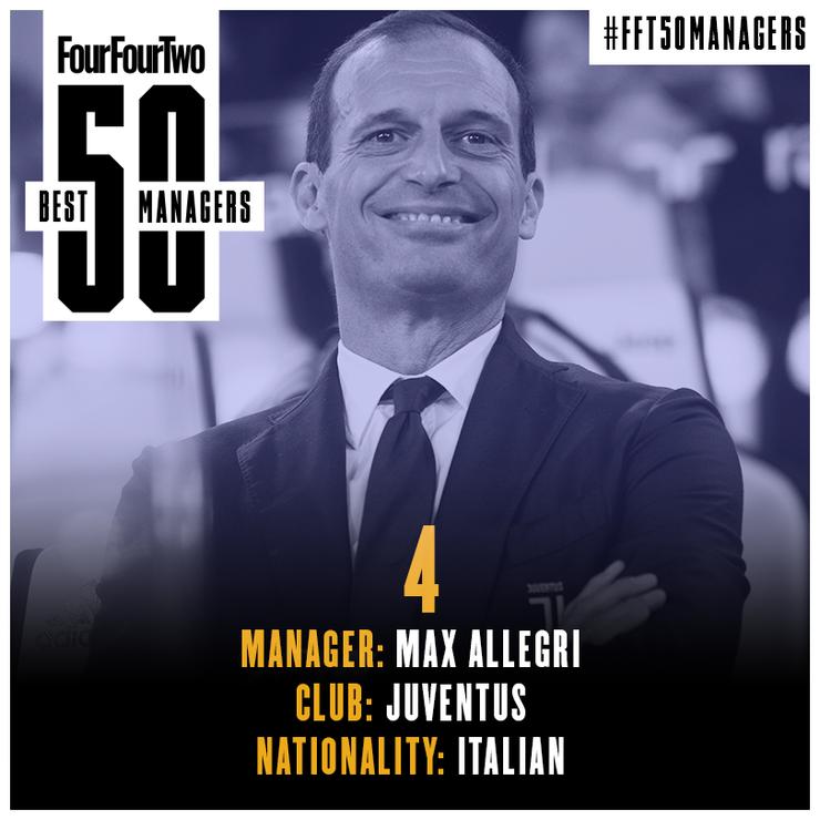 مدرب نادي يوفنتوس الإيطالي، ماسيمليانو أليغري (FOUR FOUR TWO)