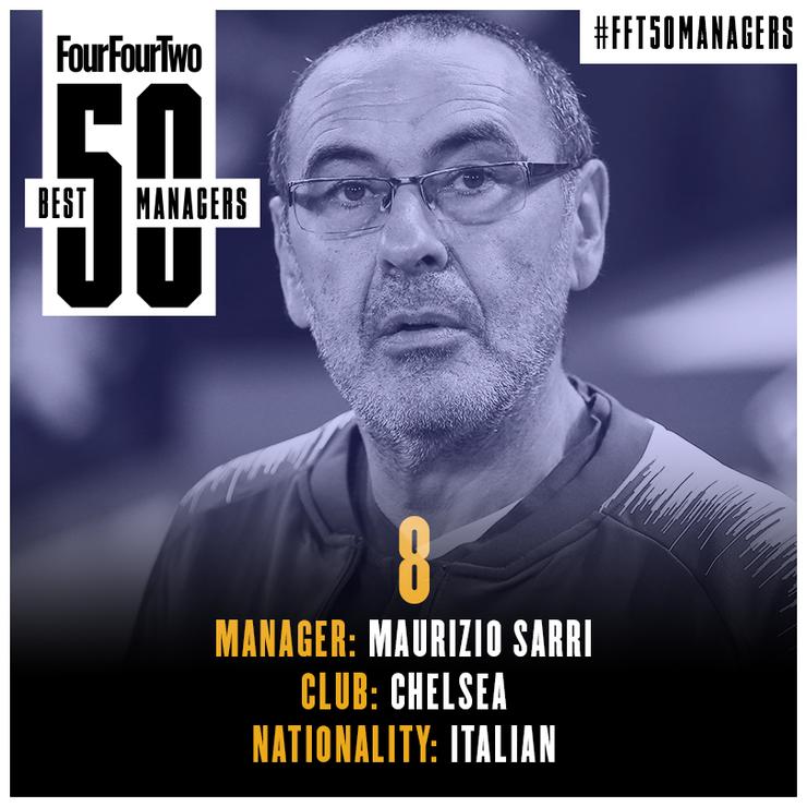 مدرب نادي تشيلسي الإنكليزي ماوريتسيو ساري (FOUR FOUR TWO)
