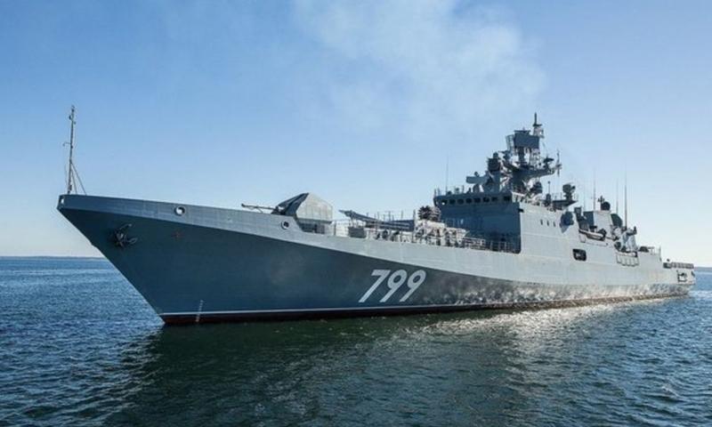 """فرقاطة """"الأدميرال ماكاروف"""" التابعة لأسطول البحر الأسود الروسي (سبوتنيك)"""