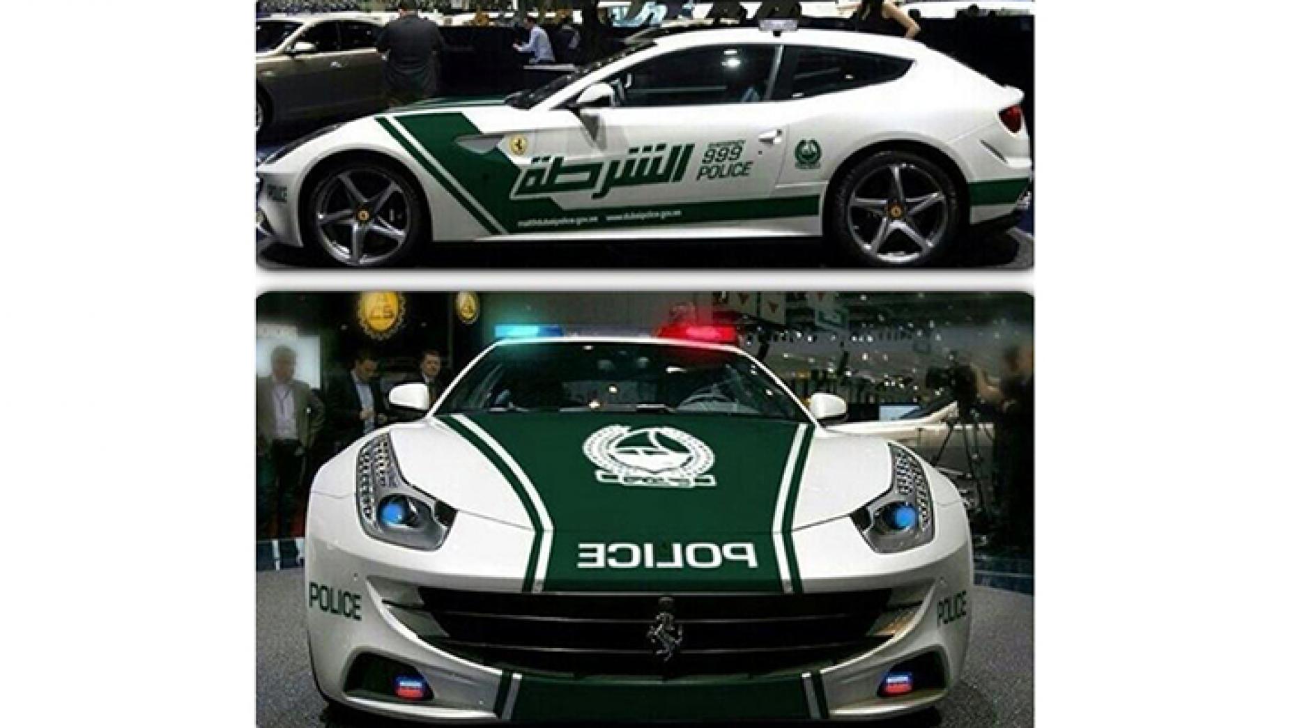"""سيارة """"فيراري فور"""" في جهاز شرطة دبي (top gear)"""
