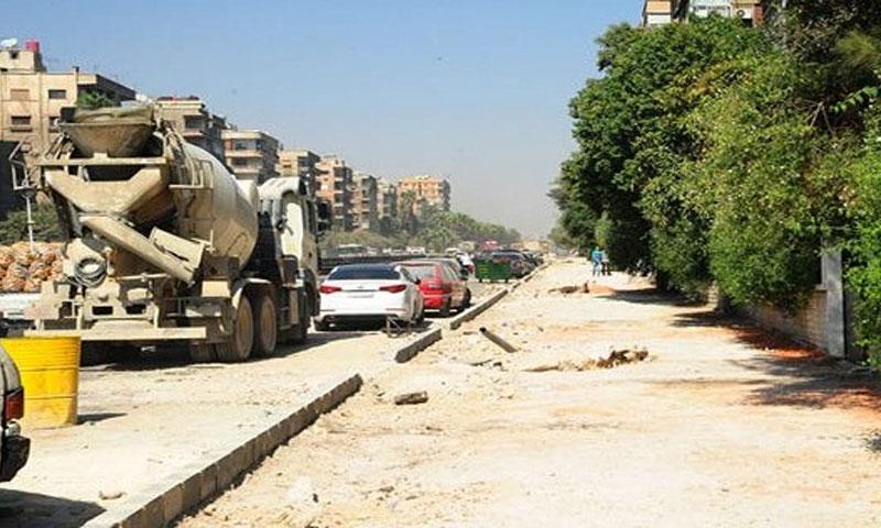إغلاق شارع فارس الخوري بسبب أعمال صيانة ساحة العباسيين (البعث ميديا)