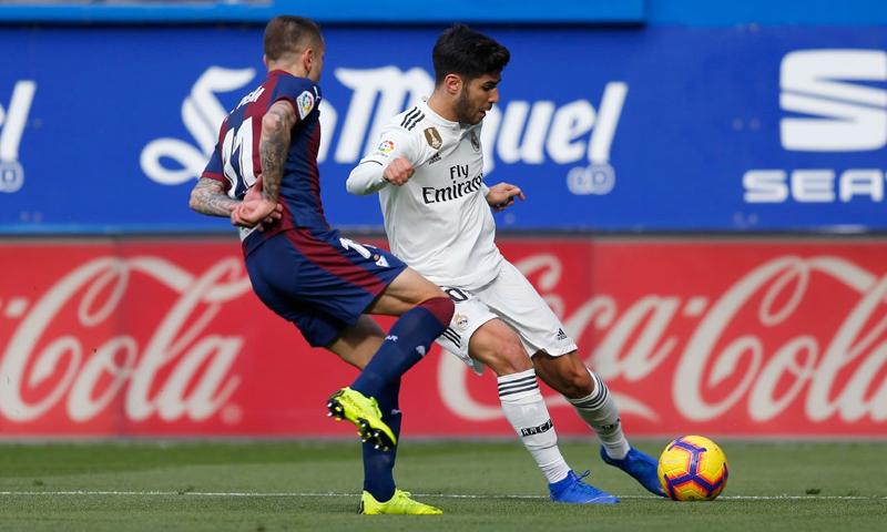 ريال مدريد يخسر أمام نظيره إيبار بثلاثة أهداف بدون مقابل في الدوري الإسباني-24 من تشرين الثاني (ريال مدريد تويتر)