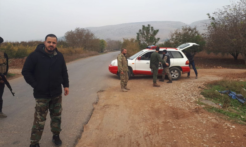 فرقة الحمزة تسليم حواجزها للشرطة العسكرية في عفرين - 21 من تشرين الثاني 2018 (سيف أبو بكر)