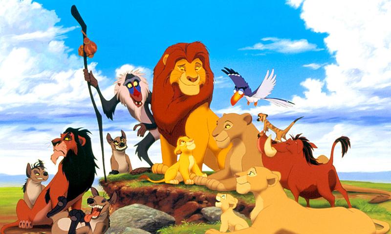 """فيلم """"الأسد الملك"""" الذي انتجته شركة """"ديزني"""" عام 1994 (Billboard)"""