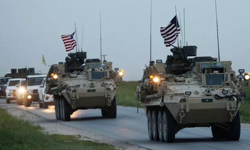 القوات الأمريكية المنتشرة شرق الفرات-28 من نيسان 2017 (رويترز)