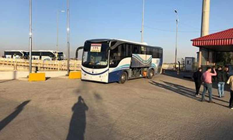 عودة نازحيين عراقيين من شمالي سوريا إلى مخيمات جنوبي مدينة نيونوى العراقية 11 تشرين الاول 2018 (وزارة الهجرة العراقية)