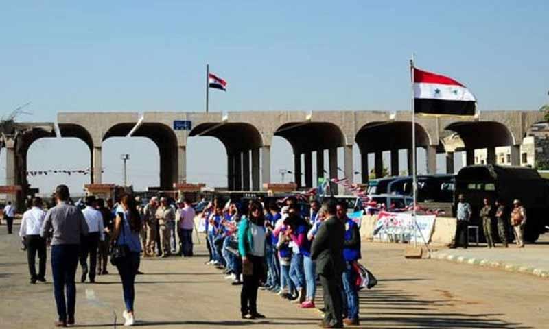 معبر نصيب الحدودي بين سوريا والأردن (موقع سوسنة)