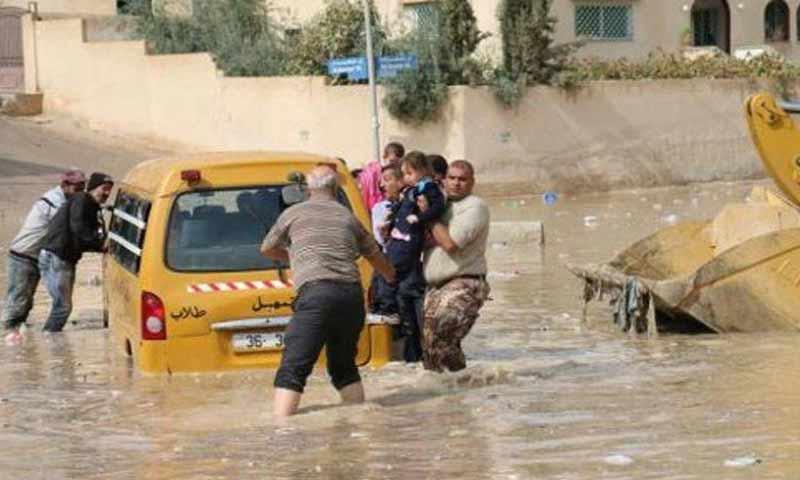 سيول وأمطار غزيرة في الأردن تشرين الأول 2018 (موقع السوسنة)