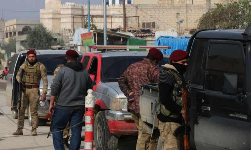 الجيش الوطني في أثناء الحملة الأمنية في جرابلس- 21 تشرين الثاني 2018 (المكتب الإعلامي في جرابلس)