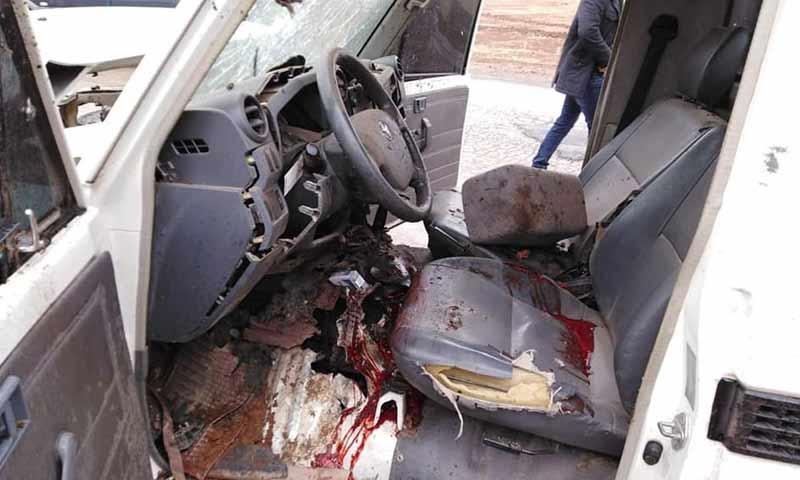 عبوة ناسفة انفجرت بسيارة القيادي في الجبهة الشامية على طريق مارع 4 تشرين الأول 2018 (مدينة الباب فيس بوك)