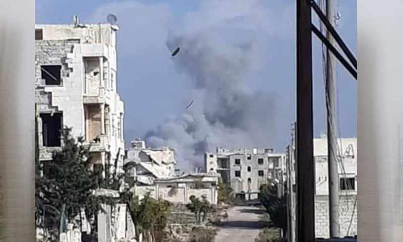 غارات للطيران الروسي على حي الراشدين غربي حلب 25 تشرين الثاني 2018 (أخبار حلب العامة)