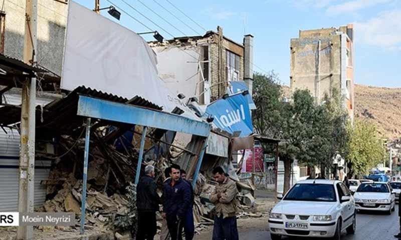 زلزال في كرمنشاه غربي إيران 26 تشرين الثاني 2018 (وكالة فارس)