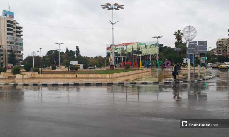 ساحة سعد الله الجابري وسط مدينة حلب- 7 تشرين الثاني 2018 (عنب بلدي)