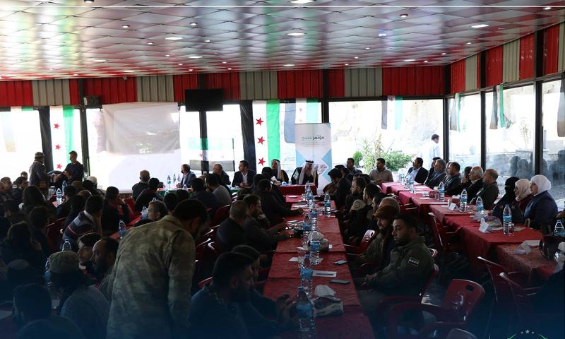 مؤتمر منبج في أثناء انعقاده بمدينة جرابلس - 1 من تشرين الثاني 2018 (لجنة إعادة الاستقرار)