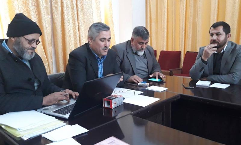 """اجتماع وزارة التعليم في """"الحكومة المؤقتة"""" في ريف حلب الشمالي- 25 من تشرين الثاني 2018 (وزارة التعليم فيس بوك)"""