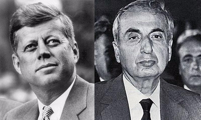 الرئيسان الراحلان رينيه معوض وجون كينيدي (تعديل عنب بلدي)
