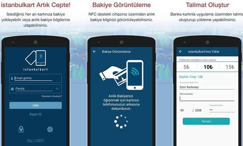 """تطبيق """"istanbulkart"""" لتعبئة بطاقات المواصلات العامة في اسطنبول"""