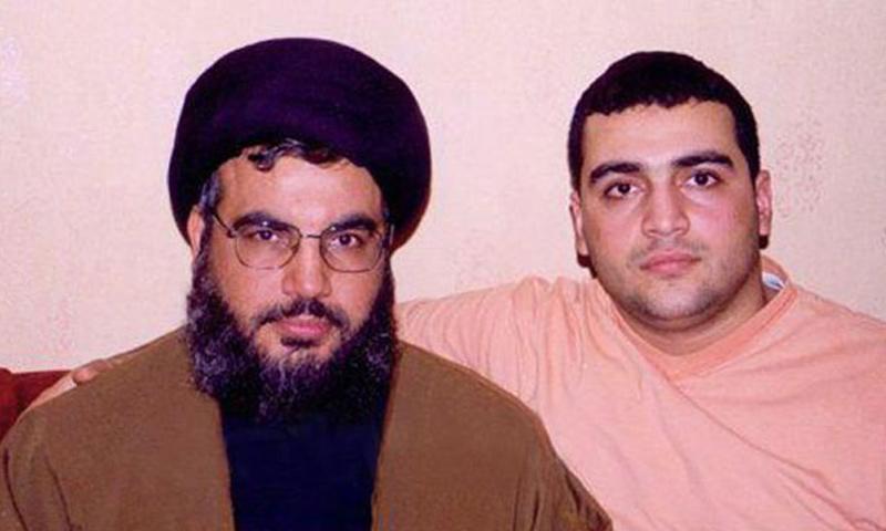 """جواد نصر الله ووالده الأمين العام لـ """"حزب الله"""" (فيس بوك)"""