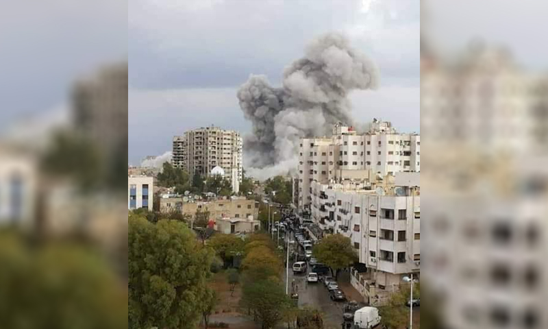 """إزالة بناء """"العبود"""" في حي القابون شرقي دمشق- (حمزة عباس)"""
