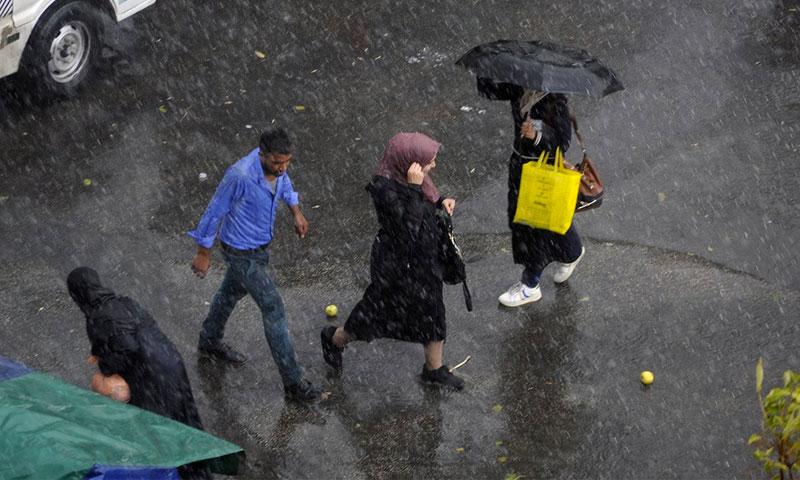 أمطار في العاصمة السورية دمشق - 25 تشرين الأول 2018 (سانا)