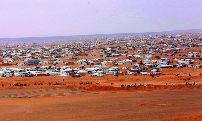 مخيم الركبان على الحدود السورية- الأردنية (AP)