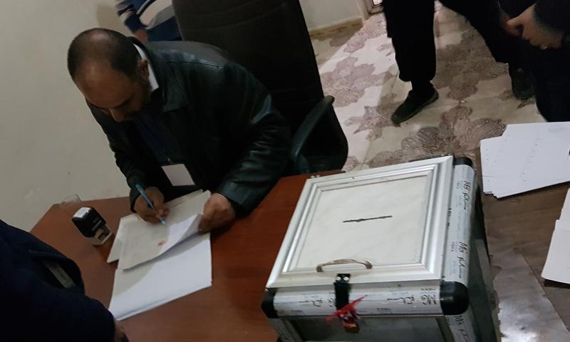 العملية الانتخابية في بلدة عينجارة بريف حلب الشمالي- 24 من تشرين الثاني 2018 (مجلس عينجارة)
