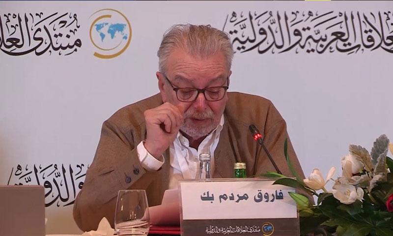 الكاتب والمؤرخ السوري فاروق مردم بيك (يوتيوب)