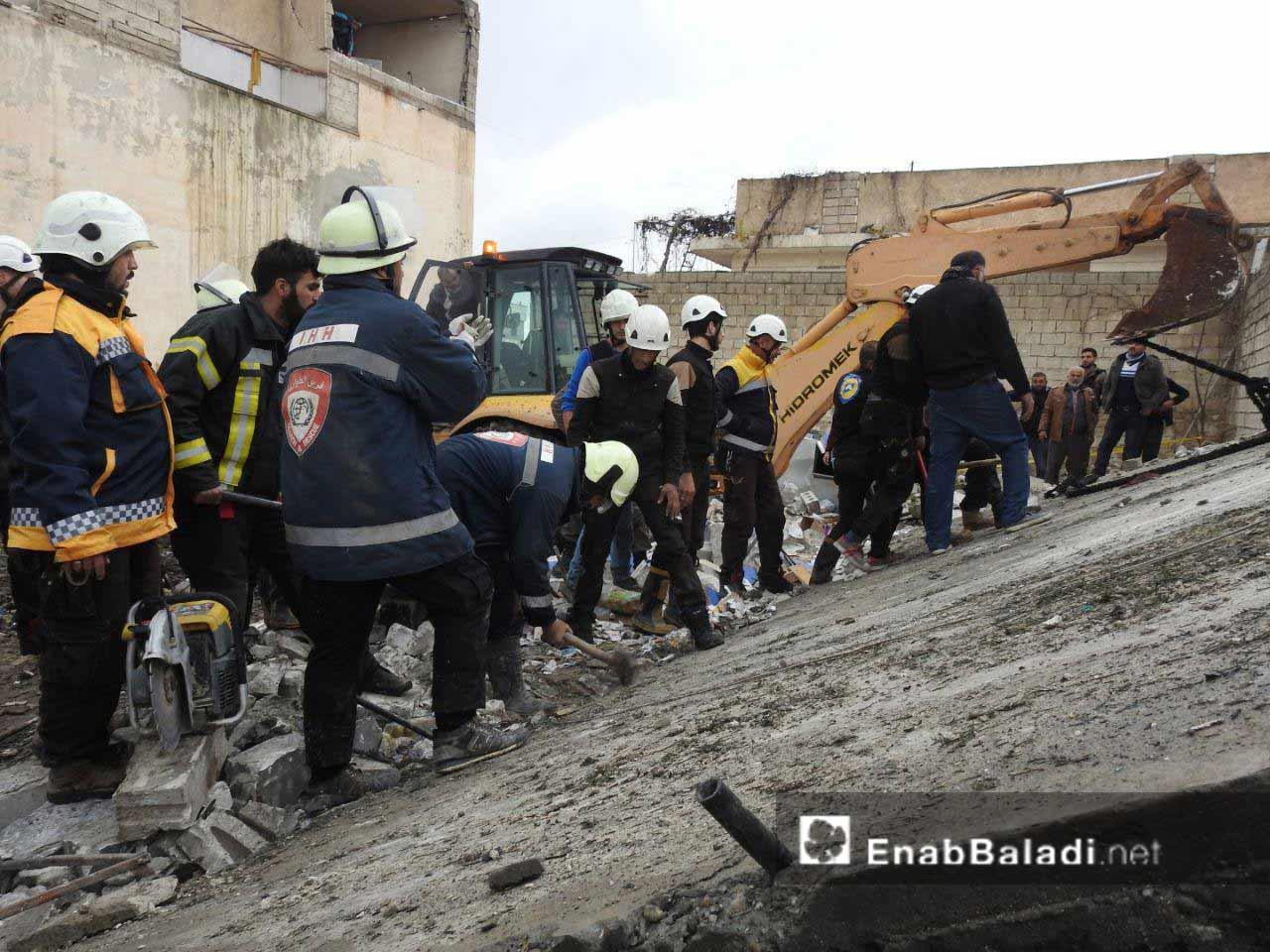 انفجار سيارة مفخخة بين مراكز صحية بمدينة اعزاز شمالي حلب 12 كانون الأول 2018 (عنب بلدي)