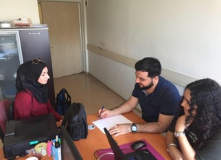 الطالب محمد خلف ضمن برنامج تدريب في مكتب رئاسة شؤون الطلاب بجامعة اسطنبول