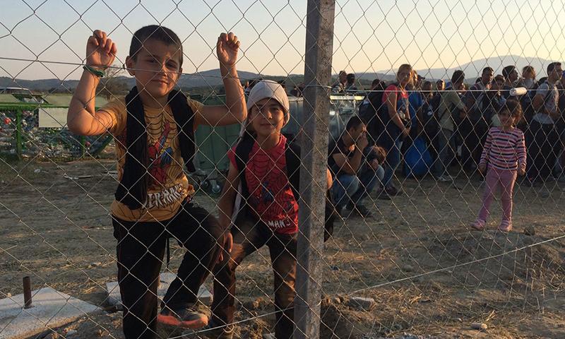 مهاجرون يعبرون إحدى دول البلقان نحو باقي دول أوربا (2016)