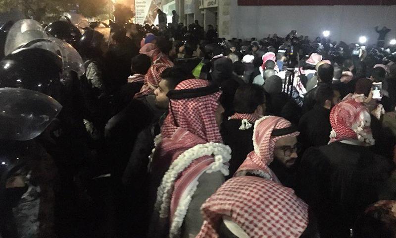 مظاهرة في العاصمة الأردنية عمان-13 كانون الأول (موقع حبر الأردني)