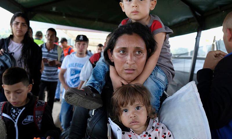 صورة لإحدى العائلات المهاجرة -2018 (الأمم المتحدة)