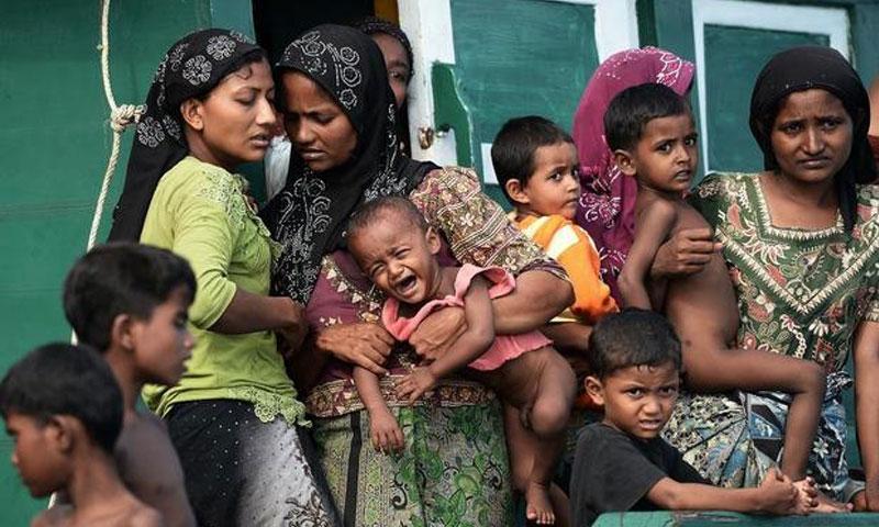 الروهينجا في ميانمار (AFP)
