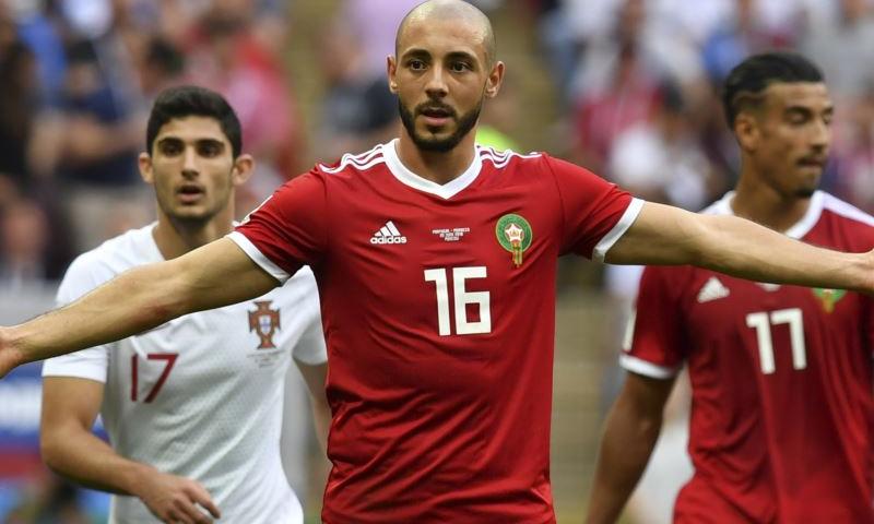 الدولي المغربي نور الدين أمرابط لاعب نادي النصر السعودي (FIFA)