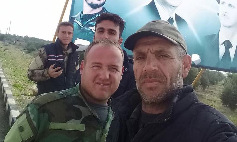 عناصر من قوات الأسد في محيط مدينة منبج - 25 من كانون الأول 2018 (تويتر )
