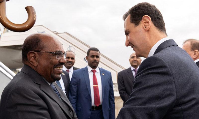 رئيس النظام السوري يستقبل الرئيس السوداني عمر البشير في دمشق- 16 كانون الأول 2018 (رئاسة الجمهورية)