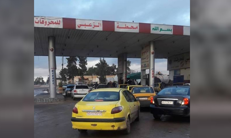 محطة وقود في محافظة درعا- 20 كانون الأول 2018 (وزارة النفط السورية في فيس بوك)